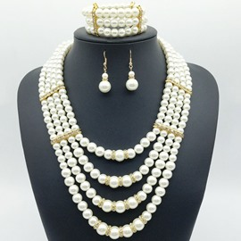 Ericdress Pear Diamante Luxury Jewelry Set