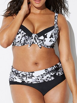 Ericdress Print Stretchy Plus Size Swimsuit