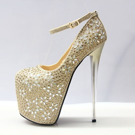 Ericdress Rhinestone Platform Stiletto Heel Women's Prom Shoes