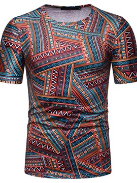 Ericdress African Fashion Dashiki Wrapped Mens Slim T-shirt
