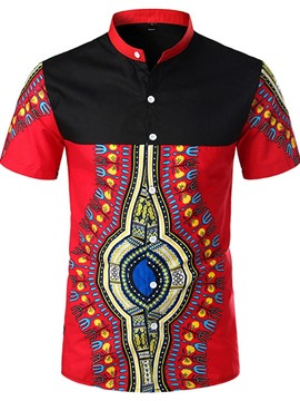 Ericdress African Fashion Dashiki Mens Single-Breasted Shirt