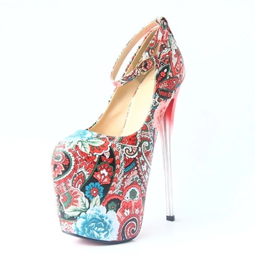 Ericdress Color Block Stiletto Heel Buckle Women's Prom Shoes
