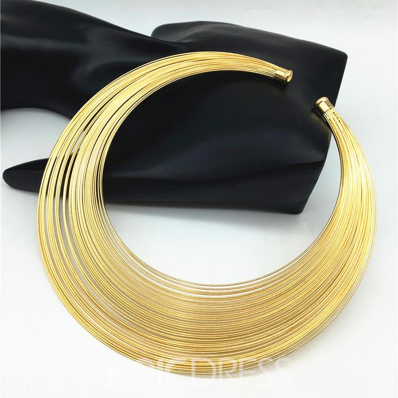 Ericdress Choker Hoop Plain Female Necklace