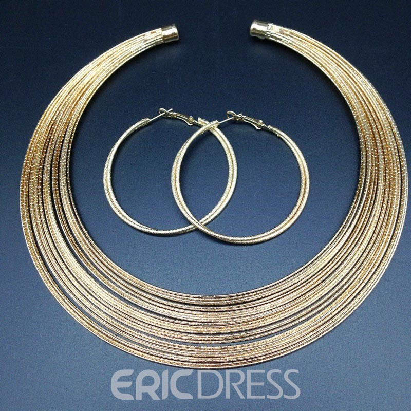 Ericdress Colour Golden Nigeria Style Jewelry Set