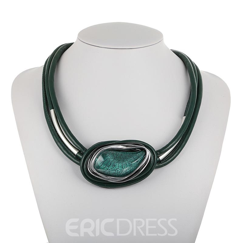 Ericdress Gemmed Nigeria Style Pendant Necklace