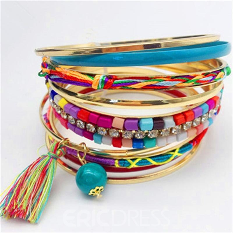 Ericdress Diamante Ethnic Style Beads Bracelet