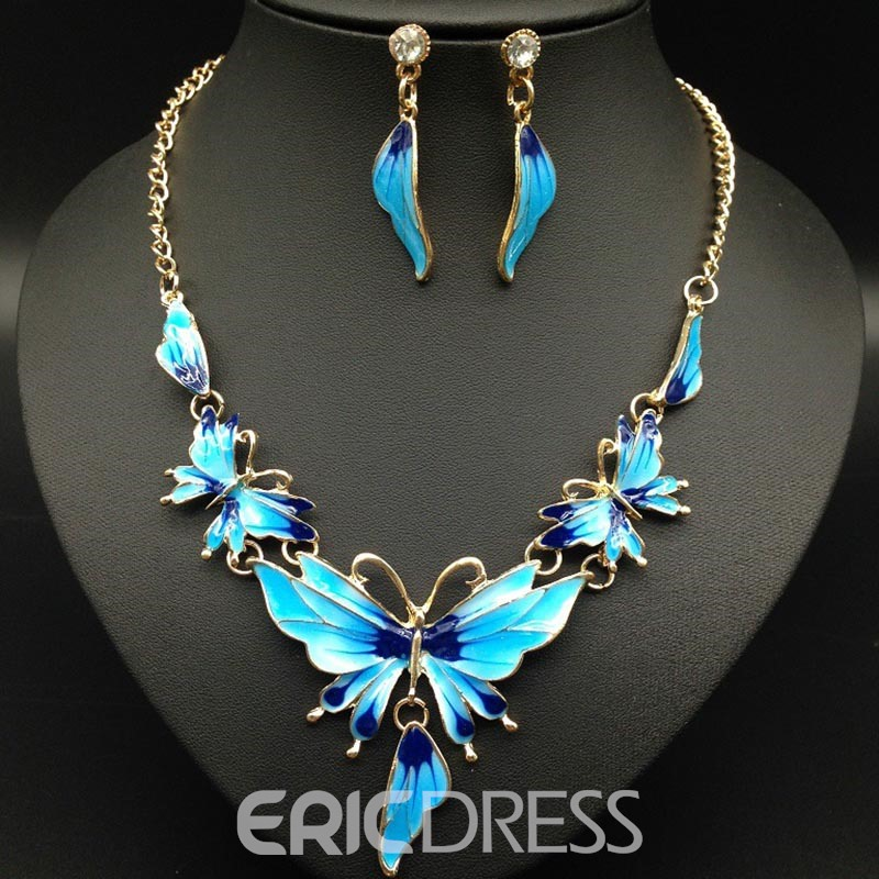 Ericdress Colour Butterfly Nigeria Style Jewelry Set
