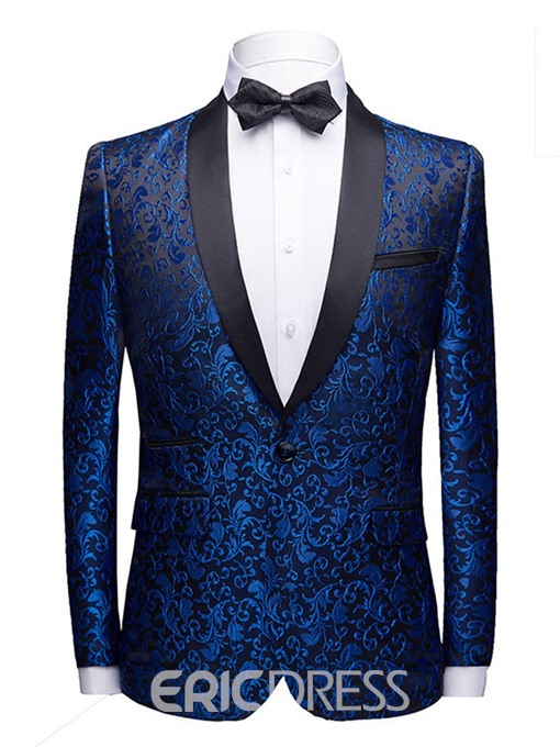 Ericdress Print Fashion Color BlockMens Blazers