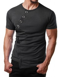 Ericdress Casual Round Neck Plain Loose Mens T-shirt
