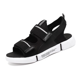 Ericdress Mesh Velcro Color Block Open Toe Men's Sandals