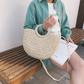 Ericdress Knitted Plain Grass Barrel-Shaped Tote Bag