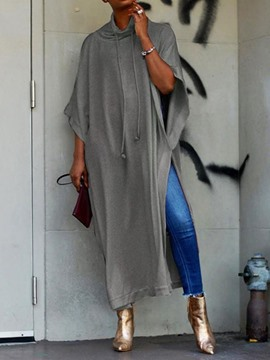 Ericdress Split Plain Long Loose Fashion T-Shirt