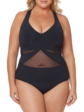 Ericdress Hollow Patchwork Plus Size Swimwear