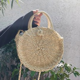 Ericdress Grass Knitted Plain Circular Tote Bag