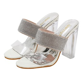 Ericdress PVC Rhinestone Slip-On Women's Mules Shoes