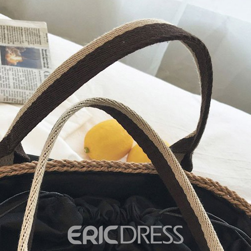 Ericdress Grass Knitted Square Tote Bag