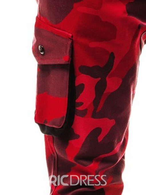 Ericdress Zipper Camouflage Overall Mens Casual Pants