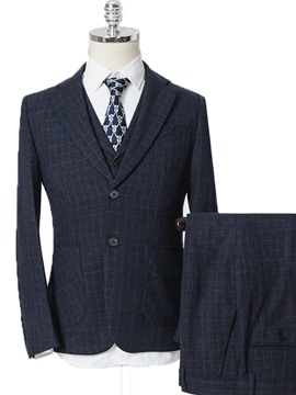 Ericdress Fashion Mens Plaid Dress Suit