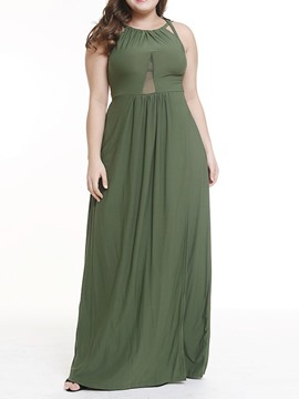 Ericdress Plus Size Backless Sleeveless Floor-Length A-Line Sexy Dress