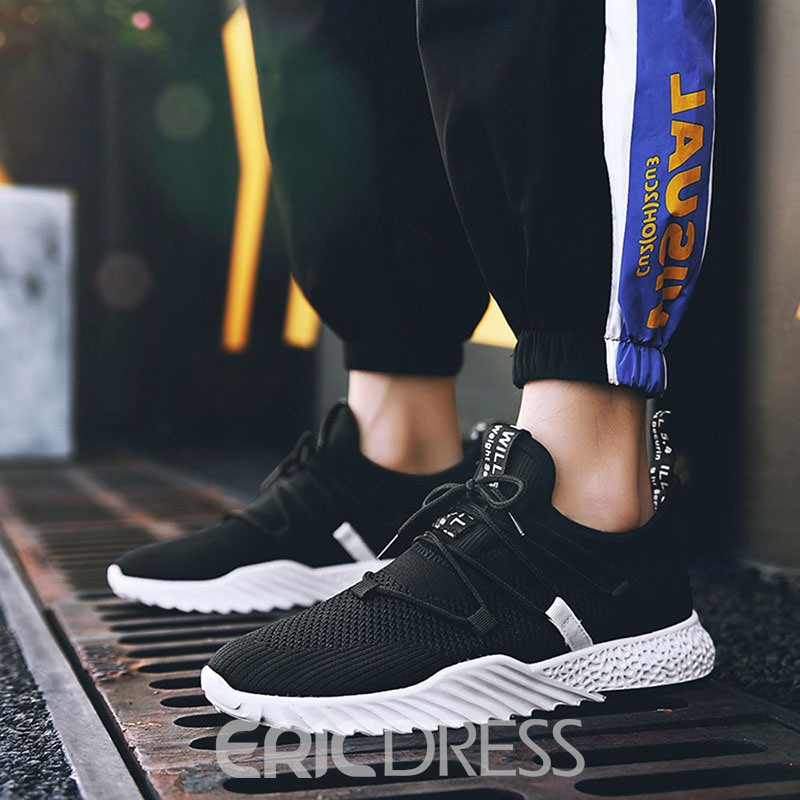 Ericdress Mesh Sports Low-Cut Upper Lace-Up Men's Sneakers