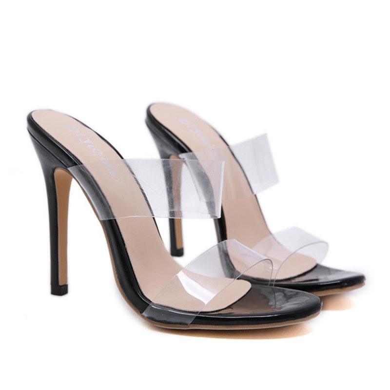 Ericdress PVC Stiletto Heel Flip Flop Women's Mules Shoes