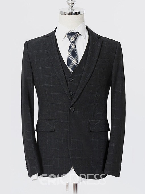 Ericdress Fashion Blazer One Button Mens Dress Suit