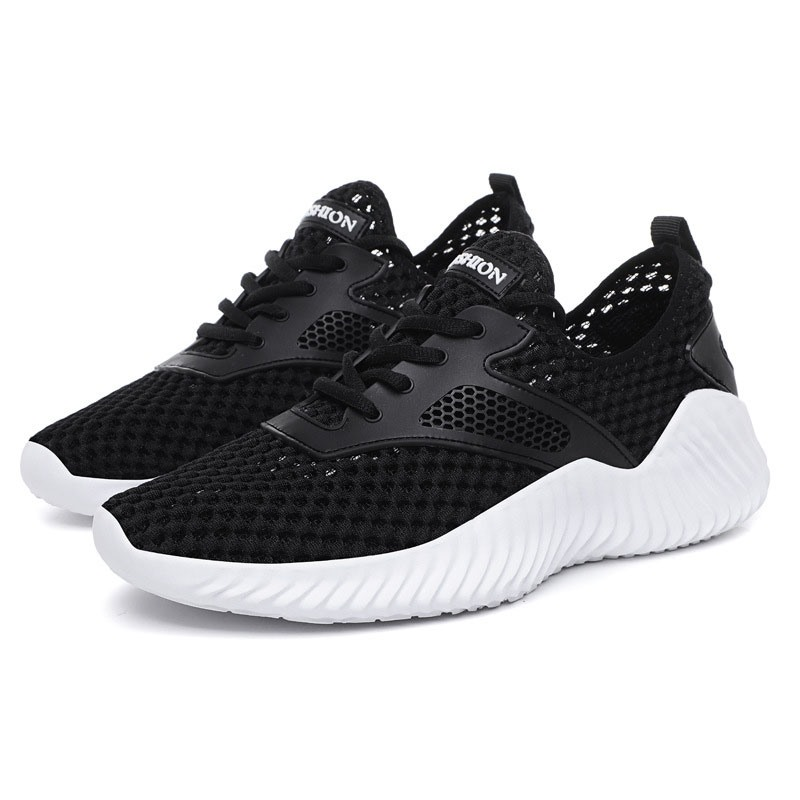 Ericdress Plain Mesh Lace-Up Men's Summer Sneakers