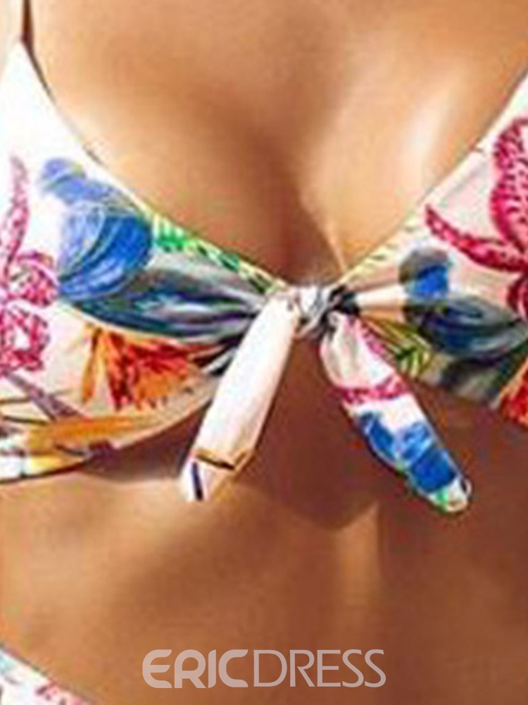 Ericdress Plant Print Bowknot Sexy Swimsuit