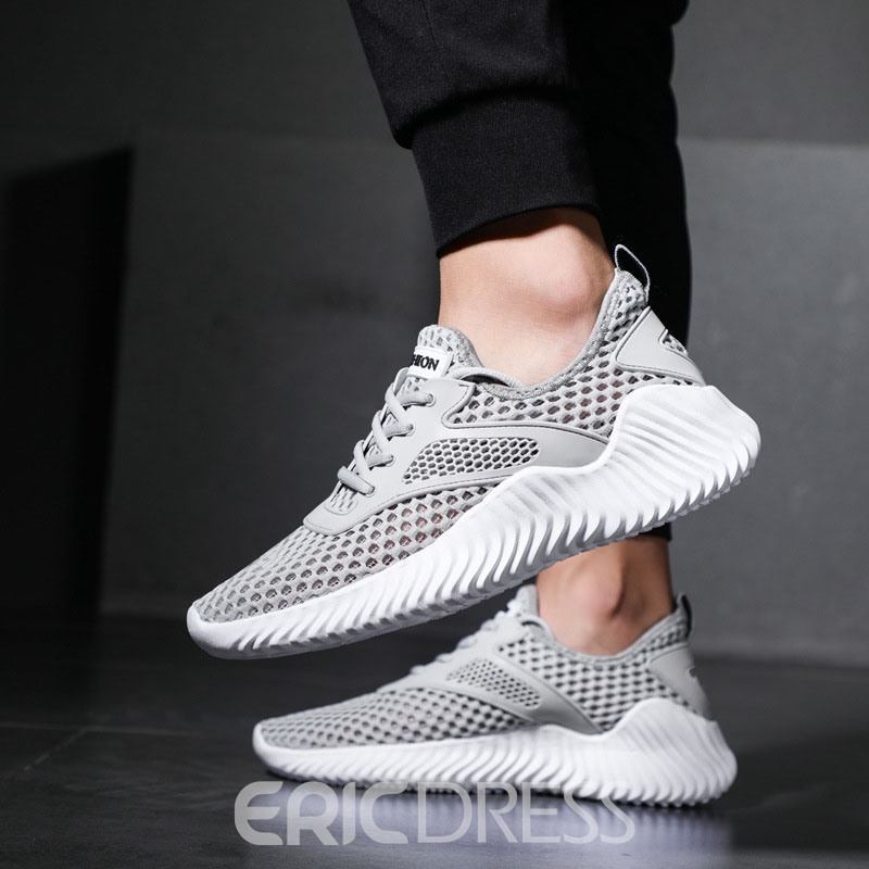 Ericdress Plain Mesh Hollow Men's Sneakers