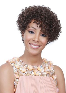 Women's Short Length Lace Front Cap Wigs Curly Synthetic Hair Wigs 14Inch