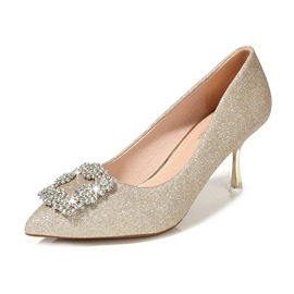 Ericdress Women's PU High Heel Pointed Toe Sequin Wedding Shoes