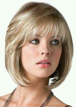 Ericdress Short Bob Style Women's Straight Human Hair Wigs Full Capless Wigs 14inch