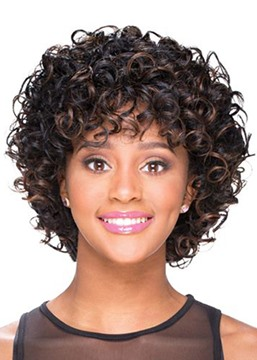 Ericdress Sexy Women's Curly Synthetic Hair Wigs 120% Density Capless Wigs 14Inch