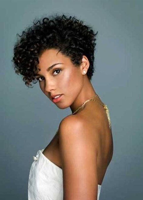 Women's Short Length Curly Synthetic Hair Lace Front Cap Wigs 12Inch