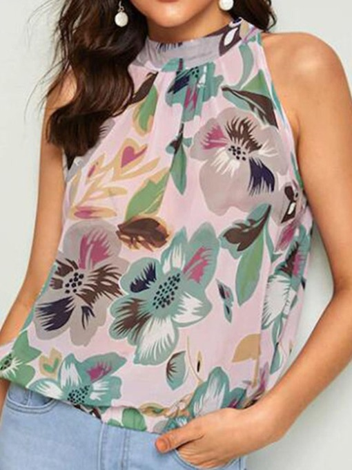 Ericdress Chiffon Print Loose Tank Top
