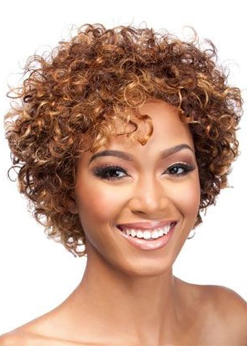 Ericdress Women's Short Length Afro Curly Synthetic Hair Wigs Capless Wigs 14inch