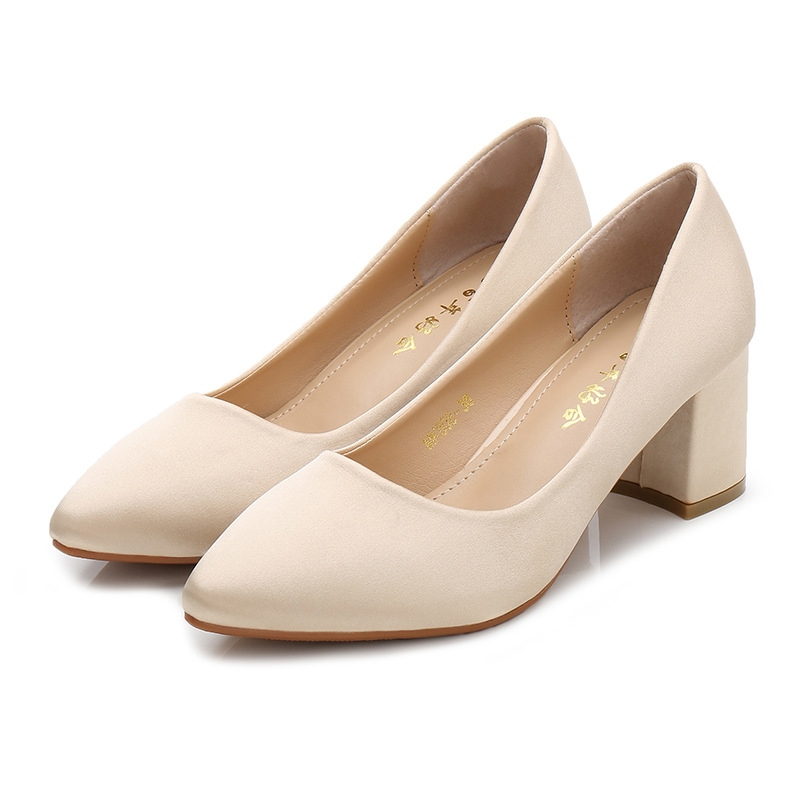 Women's High Heel Cloth Pointed Toe Thin Shoes Wedding Shoes