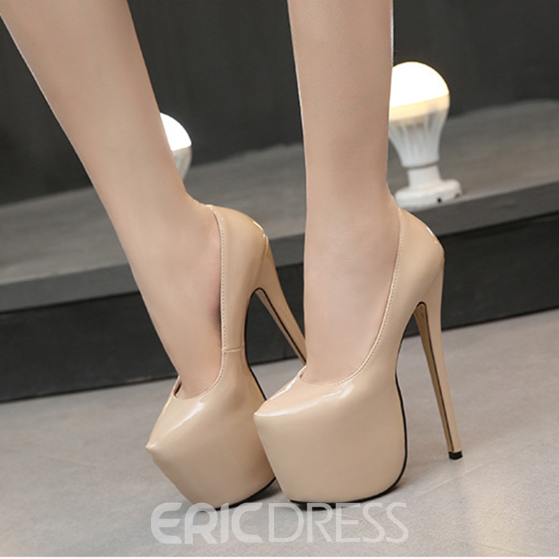 Ericdress Women's Round Toe PU High Heel Stiletto Heel Wedding Shoes
