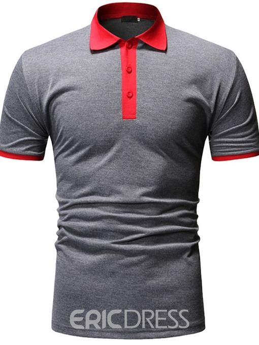 Ericdress Casual Mens Polo Neck Shirt