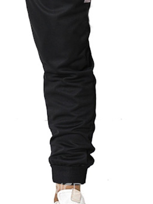 Ericdress Pocket Thin Lace-Up Mid Waist Mens Casual Pencil Pants