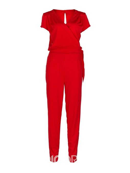 Ericdress Plain Office Lady Dressy Slim Jumpsuit