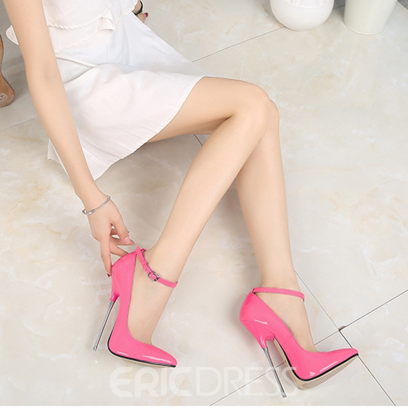 Ericdress Women's Buckle Thin Shoes PU Pointed Toe Wedding Shoes