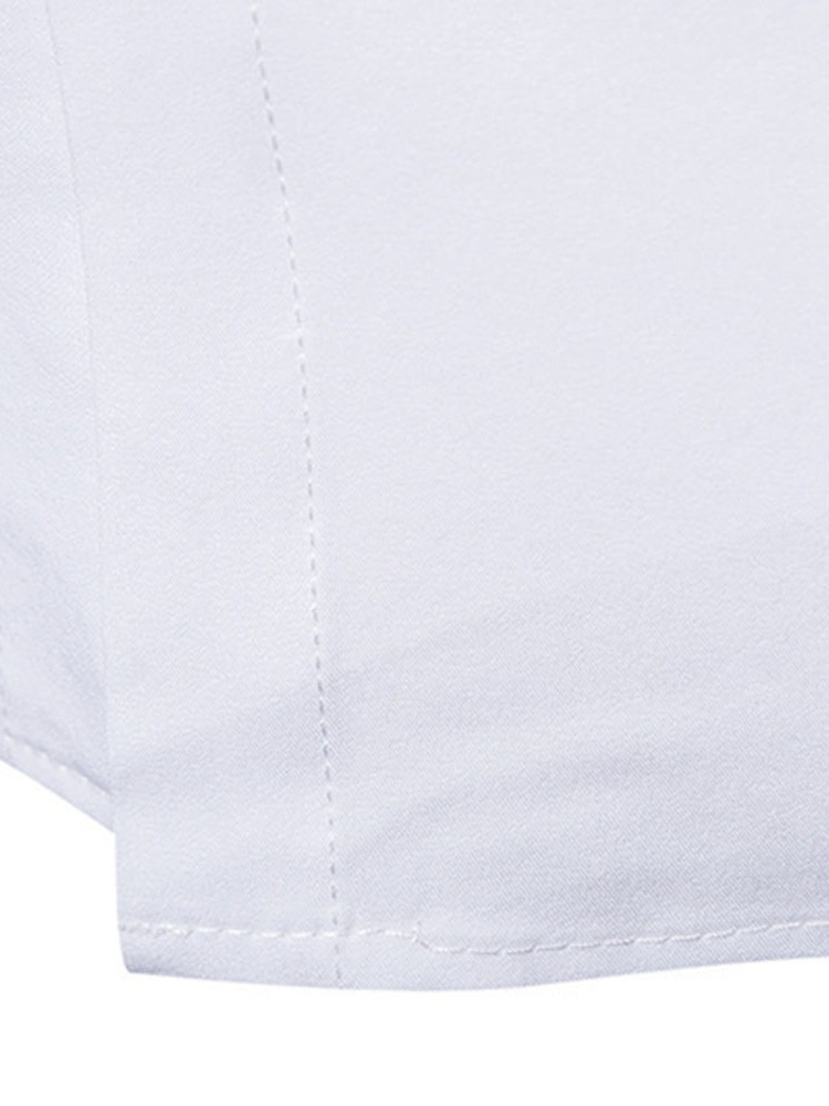 Ericdress Lapel Embroidery Casual Slim Mens Shirt
