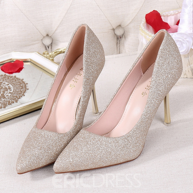 Ericdress Women's Sequin Thin Shoes Ultra-High Heel Stiletto Heel Wedding Shoes