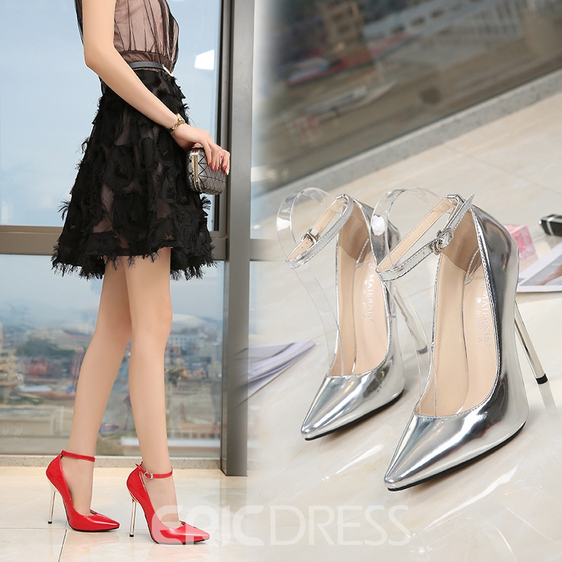 Ericdress Women's Thin Shoes Pointed Toe PU Stiletto Heel Wedding Shoes