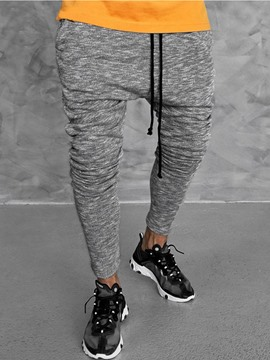 Ericdress Color Block Sports Lace-Up Mens Casual Pants
