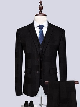 Ericdress Pants Button Single-Breasted Mens Dress Suit
