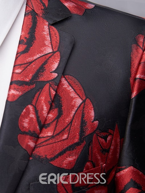 Ericdress Floral Loose Notched Lapel Mens leisure Blazers