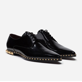 Ericdress Rivets Lace-Up Pointed Toe Men's Dress Shoes