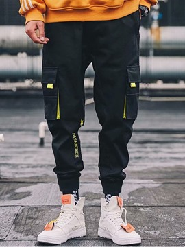 Ericdress Letter Pocket Overall Mens Casual Pants